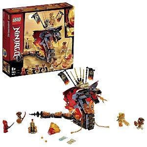 Lego Ninjago Serpente de Fogo com 4 Figuras 463 Peças 70674