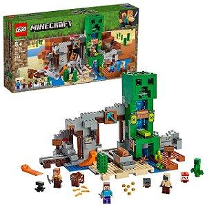 Lego Minecraft A Mina de Creeper 834 Peças e 6 Figuras 21155