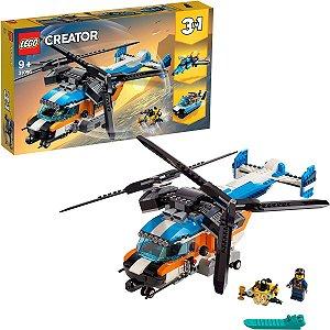 Lego Creator 3 em 1 Veiculo Helicoptero Duas Helices 31096