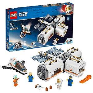 Lego City Estacao Espacial Lunar com 412 Peças e Luzes 60227