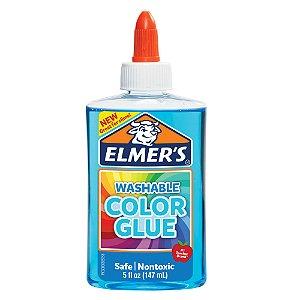 Cola Colorida 147 mL de Slime Azul Translucido Elmers 39698