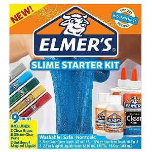 Kit de Slime Inicial Starter Kit 9 Acessorios Elmers 39610