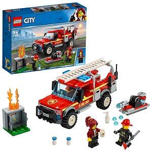 Lego City Caminhao do Chefe dos Bombeiros 201 Peças 60231