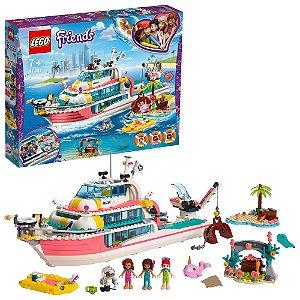 Lego Friends Missao com o Barco de Resgate 908 Peças 41381
