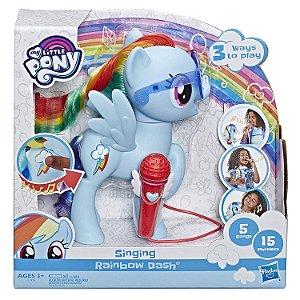 My Little Pony Rainbow Dash Cantora com Sons Hasbro E1975