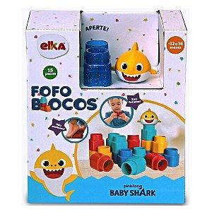 Blocos de Montar Fofo Blocos Baby Shark 15 Peças Elka 1132