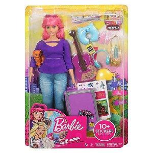 Barbie Explorar e Descobrir Daisy Viajante e Acessorio Fwv26