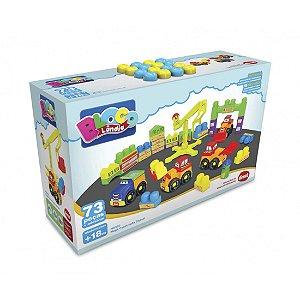 Brinquedo Infantil Mega Construção 73 Peças Dismat Mk322