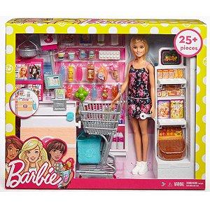 Brinquedo Boneca Barbie Supermercado de Luxo Mattel Frp01