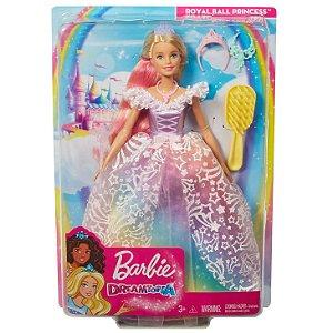Barbie Dreamtopia Princesa de Vestido Brilhante Mattel Gfr45