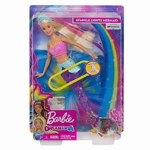 Barbie Dreamtopia Sereia com Luzes de Arco Iris Mattel Gfl82