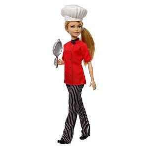Boneca Barbie Profissoes Quero ser Cozinheira Mattel Dvf50