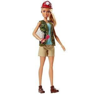 Boneca Barbie Profissoes Quero ser Paleontologa Mattel Dvf50