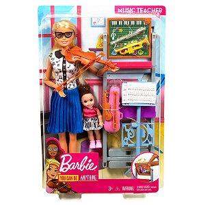 Boneca Barbie Quero Ser Professora de Musica Mattel Dhb63