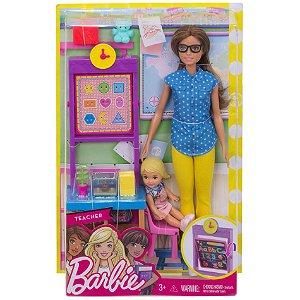 Boneca Barbie Quero Ser Professora de Escola Mattel Dhb63