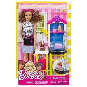 Boneca Barbie Quero Ser Estilista de Bichinhos Mattel Dhb63