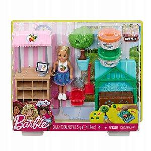 Boneca Barbie Horta da Chelsea com Massinha Mattel Frh75