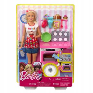 Boneca Barbie Cozinhando e Criando Chef de Bolinhos Fhp57
