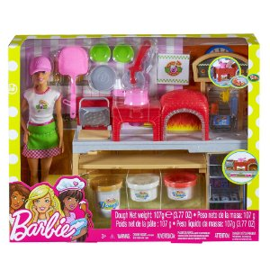 Barbie Pizzaiola Conjunto Massinha e Acessorios Mattel Fhr09