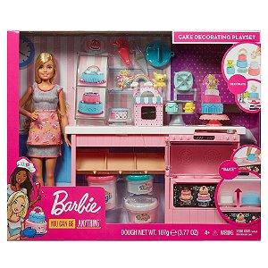 Boneca Barbie Cozinha Chef dos Bolinhos Doces Mattel Gfp59