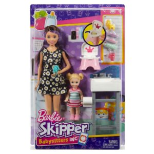 Barbie Conjunto Skipper Babysitter Peniquinho do Bebe Fhy97