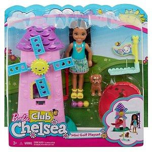 Barbie Conjunto Club Chelsea Morena e Moinho de Golf Fdb32