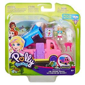 Polly Pocket Pollyville O Carrinho de Sorvete Mattel Ggc39