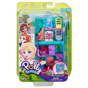 Polly Pocket Pollyville Micro Lojas Fliperama Mattel Ggc29