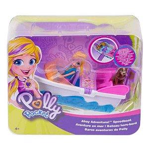 Boneca Polly Pocket Veiculo Aventura em Lancha Mattel Gdm08