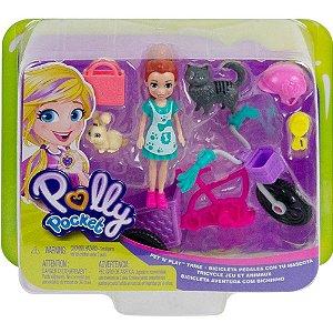 Polly Pocket Bicicleta Aventura com Bichinhos Mattel Gfr03