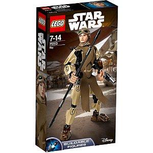 Brinquedo Novo Lego Star Wars 84 Peças Personagem Rey 75113