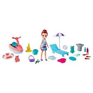 Polly Pocket Boneca Lila A Aventura na Praia Mattel Gft95