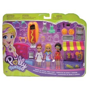 Polly Pocket Pack Quiosque de Moda e Lanchinhos Mattel Gfr10