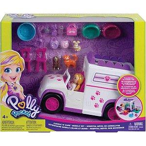 Polly Pocket O Hospital Pet Movel dos Bichinhos Mattel Gfr04