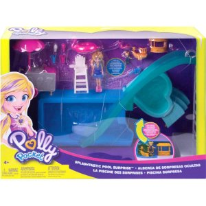 Polly Pocket Piscina com Surpresas Escondidas Mattel Gfk51
