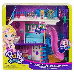 Polly Pocket Casa no Lago da Polly e Acessorios Mattel Ghy65