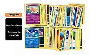 Mega Lote Pokémon 100 Cartas com Turbo Garantida Copag