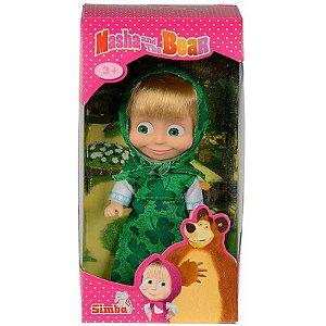 Mini Figura Articulada Masha e o Urso Roupa Verde Sunny 1481