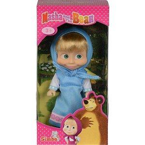 Mini Figura Articulada Masha e o Urso Roupa Azul Sunny 1481