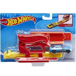 Brinquedo Hot Wheels Lançador com Carrinho Vermelho Fth84