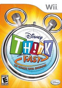 Jogo Lacrado Midia Fisica Disney Think Fast Nintendo Wii