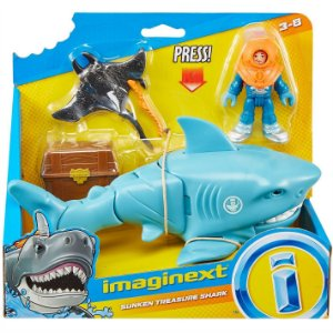Imaginext Oceano Tubarao e Mergulhador Fisher Price Gkg78