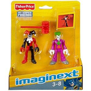 Imaginext Dc Super Friends Figuras Coringa e Arlequina M5645