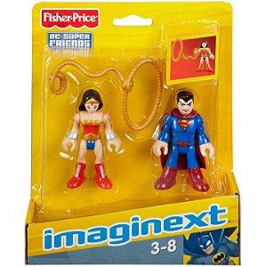Imaginext Dc Super Friends Superman e Mulher Maravilha M5645
