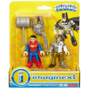Imaginext Dc Super Friends Figuras Superman e Metallo M5645