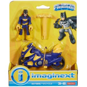 Imaginext Dc Super Friends Batgirl e Veiculo Moto Roxa M5645