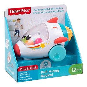 Brinquedo Foguete Anda Comigo e Bolinhas Fisher Price Gcv74