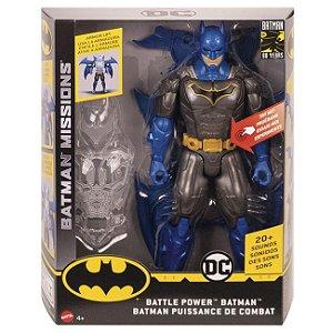 Boneco Batman com Traje de Combate Eletronico Mattel Ggv15
