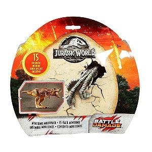 Jurassic World Conjunto Mini Dinos 15 Figuras Mattel Fpx90