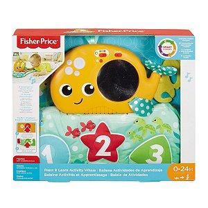 Brinquedo Infantil Baleia de Atividades Fisher Price Fxc13